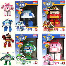 Robocar Poli Helly Amber Roy Transforming Robot set Korean animation kid toy