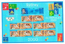 France 2000 Bloc Feuillet 10 timbres stamp Souvenir sheet Jeux Olympiques Sydney