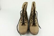 Dirty Laundry Raeven Brown Sherpa Lace Boots Women's 6