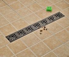 Tile insert linear shower drain wetroom long floor drain channel(70*10cm) ORB