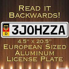 EURO STYLE Sized TAG  european license plate German  AZZHOLE BACKWARDS
