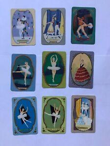 9 vintage COLES CARDS swap cards BALLET DANCER Entrechat CINDERELLA Tour En Lair