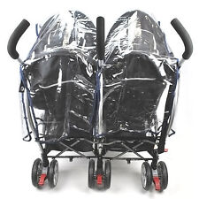 New Buggy Pushchair Stroller Double Side-by-side Pram Clear Rain Cover Baby Kids