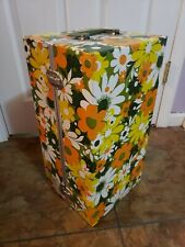 "Vintage 1960s Flower Power 18"" Doll Carry Wardrobe Storage Closet Trunk"