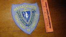 VINTAGE MASSACHUSETTS DEPARTMENT CORECTIONS OBSOLETE SHOULDER   PATCH BX K #30