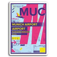 2 x 10cm Munich Airport Germany Vinyl Stickers - Sticker Laptop Luggage #19565