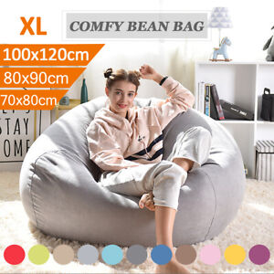 Large Gamer Bean Bag Chairs Seat Couch Sofa Cover Indoor Inner Liner Adults Kids