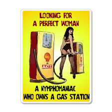 """Looking For A Perfect Woman Funny car bumper sticker decal 5"""" x 4"""""""
