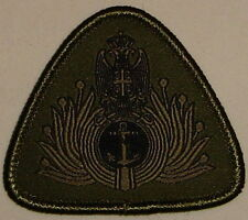 SERBIA SERBIAN ARMY ACTUAL BADGE FOR NAVY OFFICERS CAP