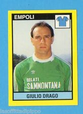 VALLARDI-GRANDE CALCIO 1988/89-Figurina n.421- DRAGO - EMPOLI -NEW