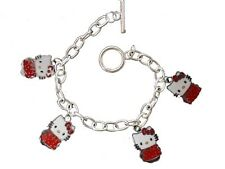 Hello Kitty Red kitty Charmed pendant  Bracelet 7 ""