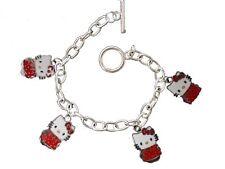 """Hello Kitty Red kitty Charmed pendant  Bracelet 7 """""""