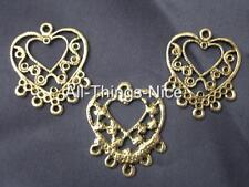Chandelier 25mm HEART Earrings Blanks Dangle Jewellery Making Bead Findings 30