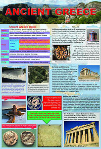 Ancient GREECE A2 laminated educational history teaching art poster wall chart