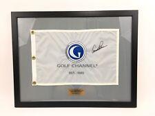 Arnold Palmer Signed Golf Channel Pin Flag Framed JSA Loa