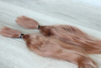 "Mohair Doll Hair color amber auburn 8-11""  0.35 oz locks angora DIY baby reborn"