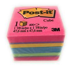 3M Post-it 2051-FLT Cube Notes Memo Pads 400 Sheet
