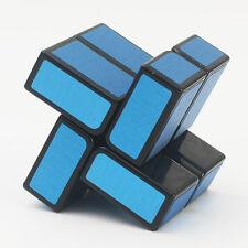 HC 2x2x2 Mirror Surface Magic Cube Windmill Jigsaw Twist Puzzle Toys Black Blue