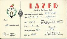 OLD VINTAGE LA7FD NORTH OF THE ARCTIC CIRCLE NORWAY AMATEUR RADIO QSL CARD