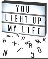 NEW A4 CINEMATIC LED LIGHT UP LETTER BOX SIGN WEDDING PARTY CINEMA PLAQUE SHOP