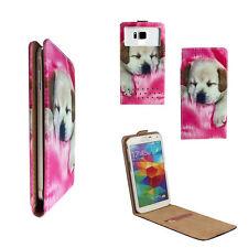 ZTE blade L110 - Handy Tasche Etui - XS Flip Hund 1