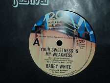 """Barry White """"Your Sweetness Is My Weakness"""" 1978 20TH CENTURY Oz 7"""" 45rpm"""
