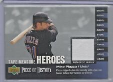 2002 UD Piece Of History Baseball Mike Piazza Tape Measure Heroes Jersey Card
