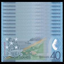 Lot 10 PCS, Salomonen/ Solomon Islands 40 Dollars, 2018, Polymer, COMM. ,UNC