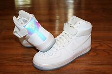 New Nike Women's Air Force 1 Hi Premium Iridescent Holo White Sneakers - Size 7