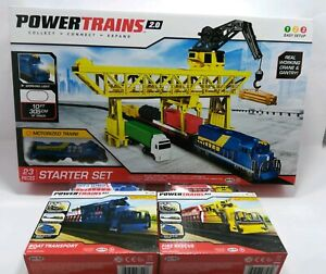Power Trains 2.0 STARTER SET Port Cargo Loader Crane boat transport fire rescue