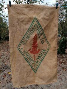 ancien sac toile de jute textile ancien