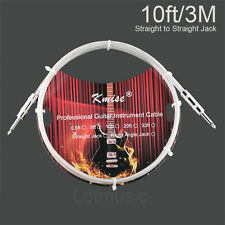5 Pcs Kmise Guitar Cable Instrument Cord 10ft OFC Braided for Electric Guitar