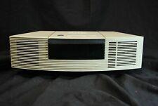 White Bose Wave Radio, Cd Player, Alarm Clock Awrc-1P -No Remote Tested, Works 1