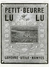 """""""PETIT-BEURRE LU"""" Annonce originale entoilée L'ILLUSTRATION 19/1/1924"""