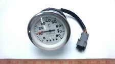 """Faria 4"""" Tachometer with System Check - White Face - Chrome Bezel (GLM)"""