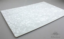 "White Pearl Pearloid Pickguard Scratch Plate Blank Material 16.9""x11.4"""