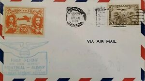 A) 1928, CANADA, AIRMAIL, FROM LONDON TO EAST ORANGE- NEW JERSEY, LONDON-CANADA
