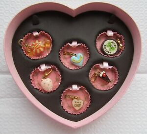 Juicy Couture 6 Charm Set Sweet Shoppe New in Heart Box