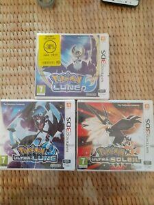 Lot jeux pokemon ultra soleil et lune neuf scellés nintendo 3ds PAL FR