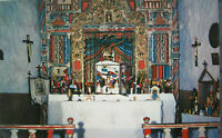Altar of Church at Chimayo 1950s Petley Studio Santa Fe Postcard New Mexico