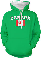 Canada Country Canadian Pride Flag Canucks Reds Soccer  2-tone Hoodie Pullover