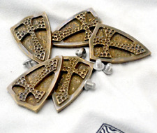 Fire Crusader Shield Brass Inlay Back Clip Tool Accessory DIY Decoration
