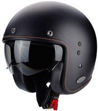 Scorpion Belfast Solid Jethelm schwarz titan matt Motorradhelm mit Sonnenblende