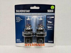 SYLVANIA 9004 SilverStar High Performance Halogen Headlight Bulb, 2 Bulbs