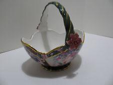 "Lena Liu ""Anna's Hummingbird"" Heirloom Porcelain Bowl/Basket Collection 2002"
