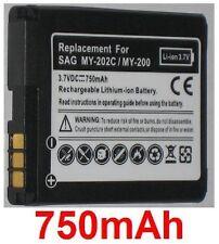 Batterie 750mAh type 252917987 253030172 287144358 Pour Sagem MY-202C