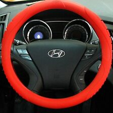 MASADA Premium Silicone Car Steering Wheel Cover (Red) - One size fits all