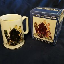 "Norman Rockwell Porcelain Coffee Tea Mug ""The Country Doctor"" Gold Trim"