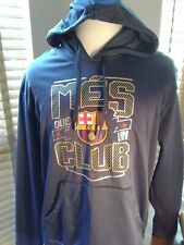 FC Barcelona Mes Que Un Club Soccer Futbol Hoodie Size XL  P10334