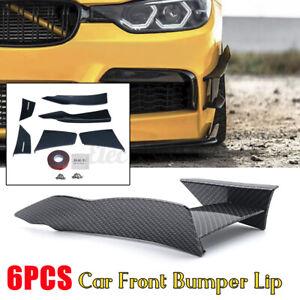 6PCS Carbon Fiber Car Front Bumper Lip Splitter Spoiler For BMW F80 M3/F82 M4